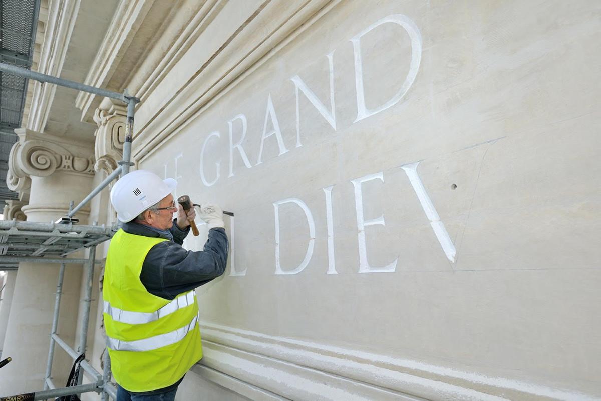 restauration gravure Hôtel Dieu