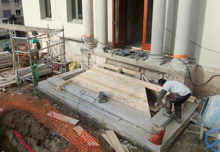 restauration perron mairie